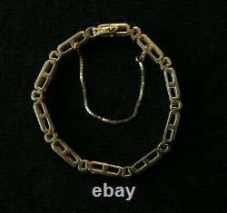 10k YG Champagne / Chocolate Diamond Channel Set Bracelet 7.5 inches