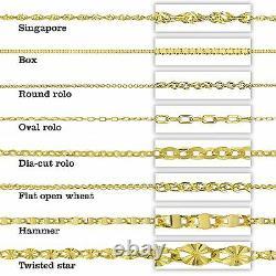 14K Yellow Gold Bezel Set 0.25 Carat Round Cubic Zirconia (CZ) Necklace