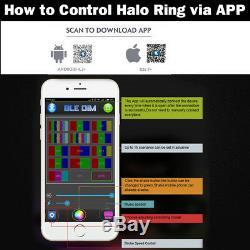 14 INCH LED Light Bar Combo RGB Halo Chasing Rock Strobe Flash Bluetooth APP