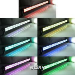 14 INCH LED Light Bar Offroad Driving RGB Chasing Halo Music Flash Bluetooth