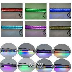 20 126W Led light bar + 2x 4 Pods with RGB Halo Chasing & Wiring For ATV SUV 4X4