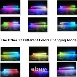 20 INCH 126W 4D LED LIGHT BAR Offroad RGB Halo Chasing Remote & Control Wiring