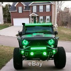 20 INCH 4D LED Light Bar Combo RGB Halo Chasing Rock Strobe Flash Bluetooth APP