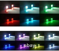 20 inch Offroad LED Light Bar + 3 Pods with RGB Halo Ring Chasing SUV ATV 4X4