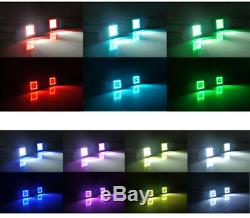 22 120W Off road LED Light Bar + 2x 3 24W Spot Fog Pods with RGB Halo Chasing