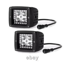 22 Off road LED Light Bar + 2x 3 Pods with RGB Angel Eyes Halo Multi Color 12V
