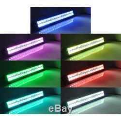 22 inch 120W LED Light Bar + 4x 3 4D Pods RGB Chasing Halo Wireless Bluetooth