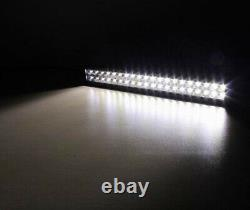 22 inch LED Light Bar Combo + 3 Pods with RGB Halo Chasing & Wiring For Truck SUV