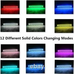 22 inch LED Light Bar Combo + 4x 3 Pods RGB Halo Change Chasing Remote Control