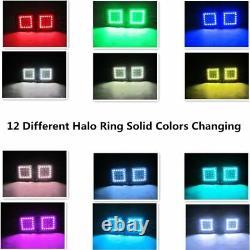 22 inch Led Light Bar Combo + 2x Flush mount Pods with RGB Halo Chasing Kit 12V
