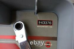 2 Craftsman Flat Box End Ratcheting Wrench 5-Piece Sets SEA Inch & Metric mm NIB