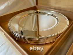 2 Sets of Pampaloni Silver Plates (12 plates) with Original Boxes 12 inch