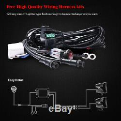 2x 3inch 24W LED Work Light Bar Spot Fog Pods with Chasing RGB Halo & Wiring Kit