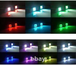 2x 3inch LED Work Light Bar Spot Pods RGB Halo Chasing Kit Bluetooth Control