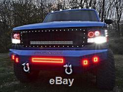 2x 3inch LED Work Light Fog Pods Chasing RGB Halo & Bluetooth Harness Kit