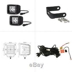 30/32'' RGB Halo LED Light Bar + 3 Pods Fit For Polaris RZR 800 900 XP4 1000