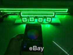 32 LED Light Bar Combo + 22 + 4x 3 Pods RGB Halo Chasing Bluetooth Controlled