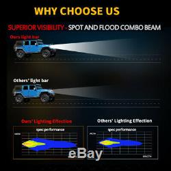 32 inch 180W Led Light Bar Spot Flood Off road Driving RGB Halo Color Changing