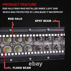 32 inch 180W Off-road Led Light Bar RGB Halo Chasing Wireless Music Bluetooth 40