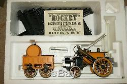 3.5 inch Gauge LIVE STEAM Hornby G100 Stephensons Rocket Set with Track & BOXED