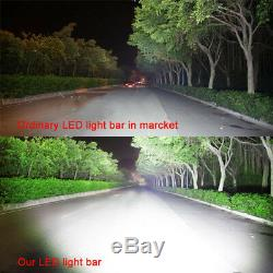 42Inch LED Light Bar Combo + 4x 3 PODS with RGB Halo Ring OFFROAD SUV 4WD ATV