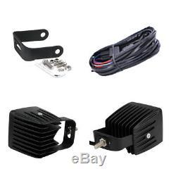 4X 3 inch 24W Spot Led Work Light Bar Pods RGB Halo Ring Chasing & Free Wiring