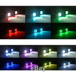 4x 3 24W Led Light Bar Pods with Chasing RGB Halo & Wiring Kit APP Control