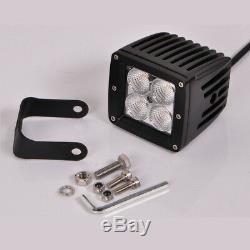 4x 3 LED Work Light Flood Beam Pods White/Red/StrobeFlash Fog Emergency Warning