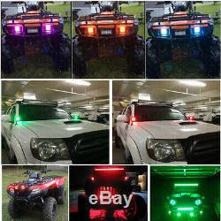 4x 3 inch 30W Led Work Light Flood Pods RGB Halo Change & Chasing Bluetooth Kit