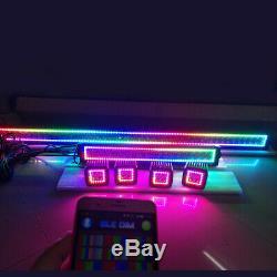 50Inch LED Light Bar + 22 + 4x 3 Pods RGB Halo Ring Chasing & Bluetooth Wiring