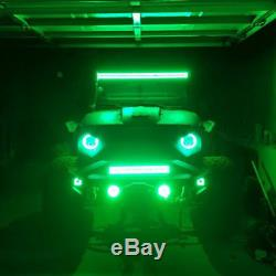 50inch 288W Led Work Light Bar Offroad with RGB Halo Ring Chasing For Jeep Boat