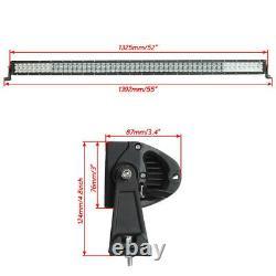 52 inch RGB LED Offroad Light Bar 5D Strobe Music Flash Wireless Bluetooth Kit