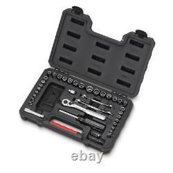 58 Piece Mechanics Tool Set with Storage Case SAE INCH METRIC