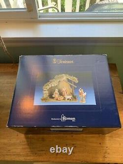 5 Inch Fontanini Nativity Set with Wooden Manger in original box