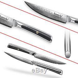 6PCS 5 Inch Steak Knife Sets Japanese Damascus Steel Cutlery Beef Knife Gift Box