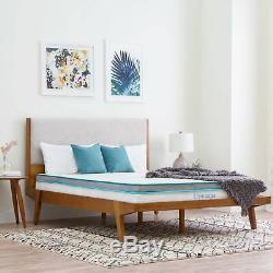 6 Inch Memory Foam California King Size Box Full Spring Frame Mattress Set Bed