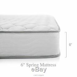 6 Inch Memory Foam Full XL Size Box Full Spring Frame Mattress Set Bed Frame