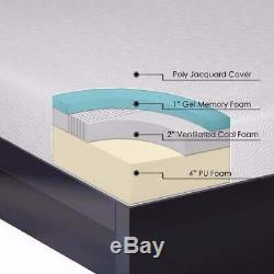 7 Inch Gel Memory Foam Mattress and Bi-fold Box Spring Set