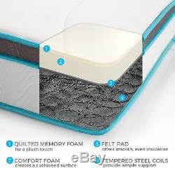 8 Inch Memory Foam King Size Box Full Spring Frame Mattress Set Bed Frame Air