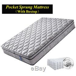 9/10 Inch Cozy Memory Foam Mattress Pocket Spring Pillowith Box/ Tight Top Style
