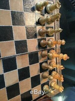 ANTIQUE JAQUES CHESS SET (Unweighted)with 3.5 inch Kings Comes In A Lovely Box