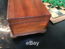 ANTIQUE JAQUES CHESS SET with 3.5 inch Kings Comes In A Lovely Box