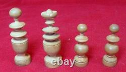 ANTIQUE WOODEN FRENCH CHESS SET KING 2,5 Inch Height Hand Made (ORIGINAL BOX)