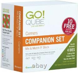 Accuquilt Go! Qube Companion Set Corner 9 Inch Brand new and Boxed Sealed