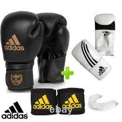 Adidas Leather Training Boxing Gloves Set! Includes Bag Gloves & Mouthguard