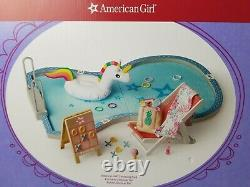 American Girl Doll Swimming Pool Set, Truly Me, New in Box, 18 Inch Doll, Summer