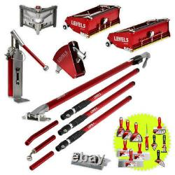 Automatic Drywall Finishing Set with 10/12 Inch Flat Boxes & Extension Handles