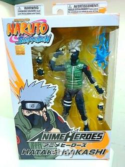 Bandai Naruto Shippuden Anime Hero 6 Inch Kakashi & Sasuke & Naruto Figure