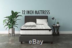Best CAL KING Size Bed Mattress in Box set Swiss Ortho Sleep 10 Inch Hybrid Foam