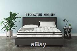Best KING Size Bed Mattress in Box set Swiss Ortho Sleep 12 Inch Hybrid Foam NEW